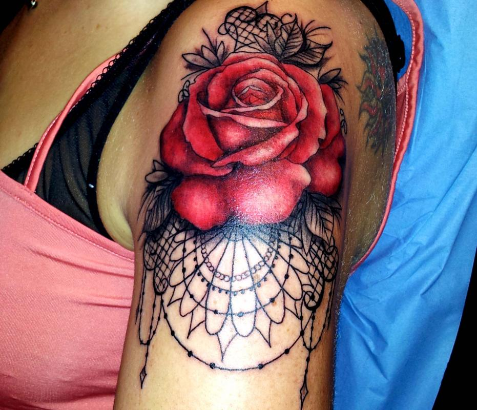 tattoo rose couleur