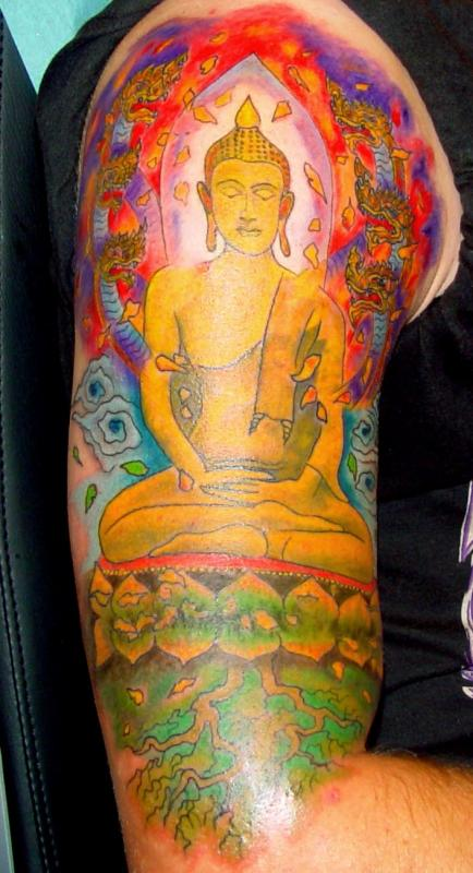 tattoo asiatique couleur