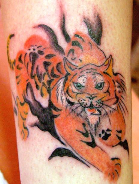 tattoo tigre couleur