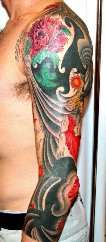 tattoo asiatique couleur