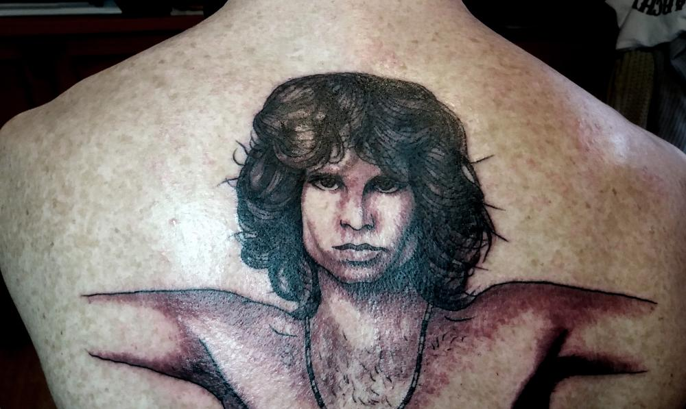 tattoo portrait jim morrison