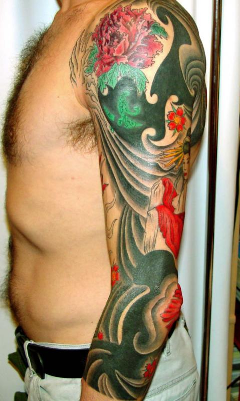 recouvrir plusieurs tattoo sur un bras
