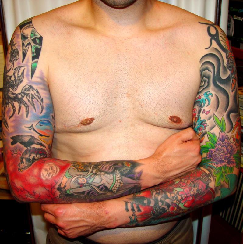 tattoo asiatique style japonisant sur bras