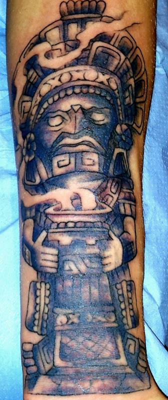 tattoo inca avant bras