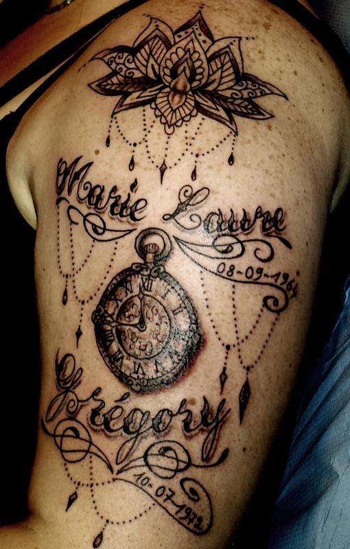 tattoo mandala lotus sur bras